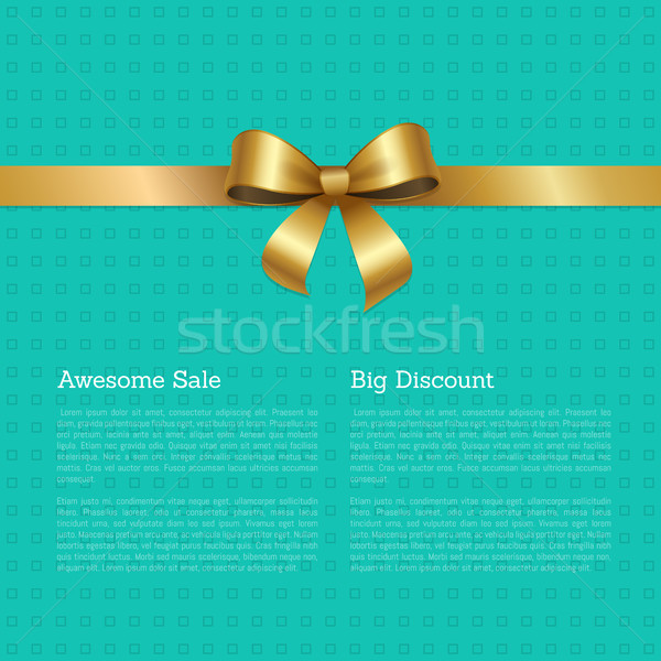 Awesome Sale Big Discount Certificate Card Design Stock photo © robuart