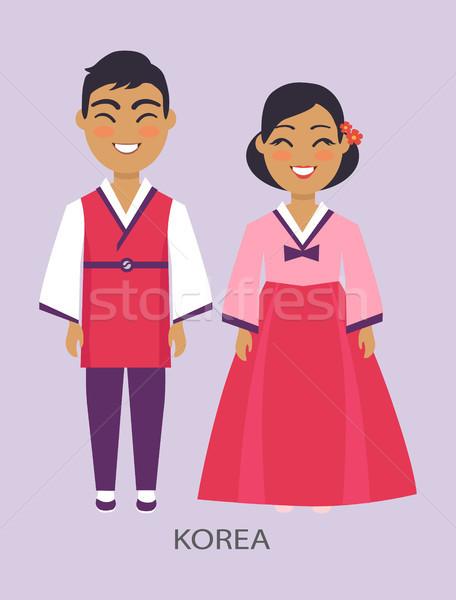 Korea and Representatives on Vector Illustration Stock photo © robuart