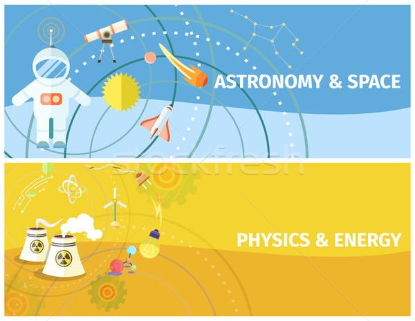 Astronomy and Space, Physics and Energy Poster Stock photo © robuart
