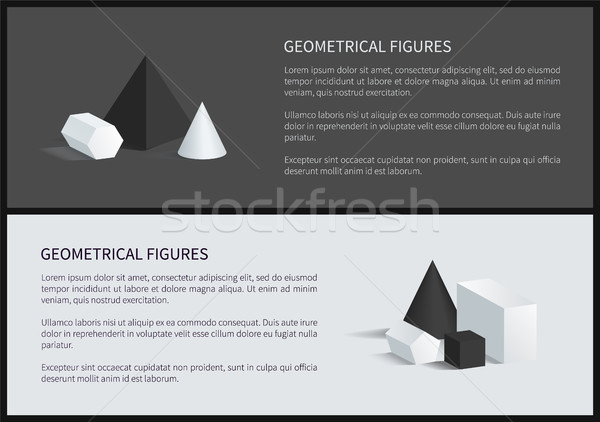 Geometrical Figures Banners Vector Illustration Stock photo © robuart