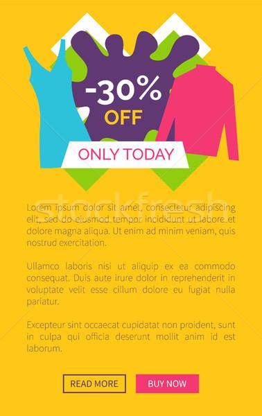 Hoje 30 promo cartaz Foto stock © robuart