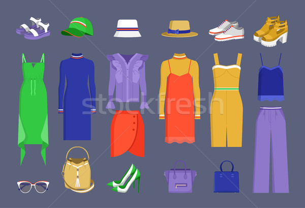 Lot of Varied Colorful Stuff Vector Illustration Stock photo © robuart