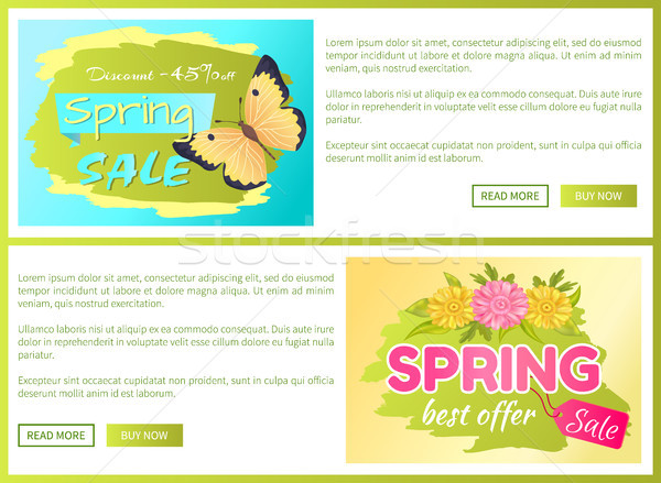 Promo Offer Spring Sale Advertisement Daisy Flower Stock photo © robuart