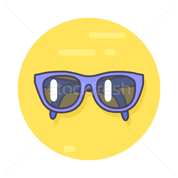 Circle Icon Depicting Pair of Unisex Sunglasses Stock photo © robuart