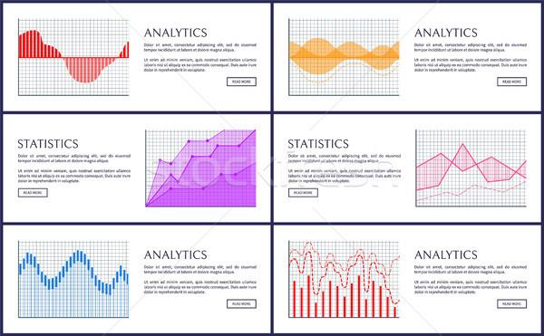 Statistics and Analytics Infographics, Vector Card Stock photo © robuart