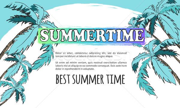 Mejor verano tiempo anunciante luz turquesa Foto stock © robuart