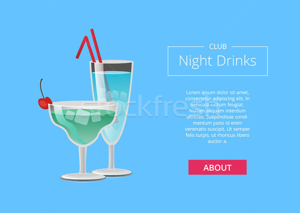клуба ночь напитки веб плакат синий Сток-фото © robuart