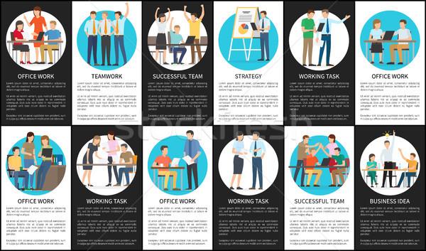 Strategie Business Idee Arbeit Aufgabe erfolgreich Stock foto © robuart