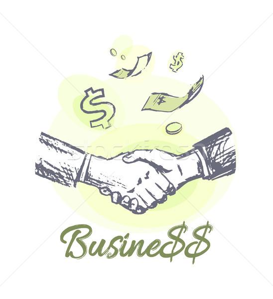 üzlet üzlet promóciós embléma űrlap rajz Stock fotó © robuart