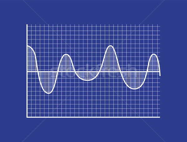 Schematic Statistical Wave on Coordinate System Stock photo © robuart