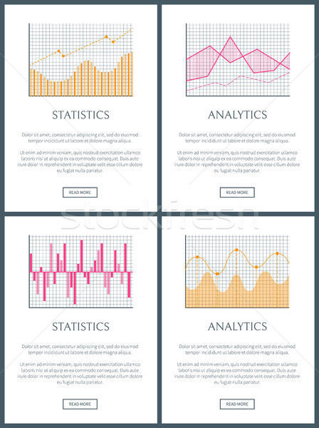 Statistiques analytics texte échantillon affaires Photo stock © robuart