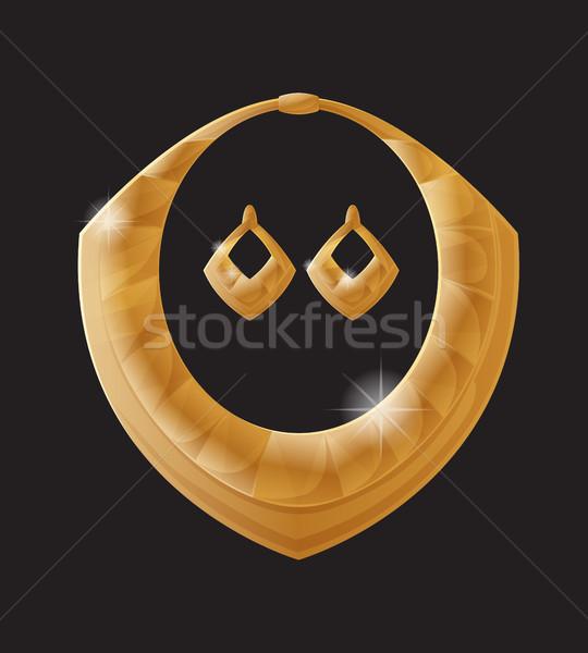 Złoty biżuteria złota sztuk bogate materiału Zdjęcia stock © robuart