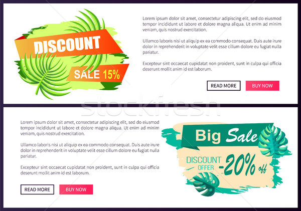 Discount Sale Off Summer Web Advertisement Labels Stock photo © robuart