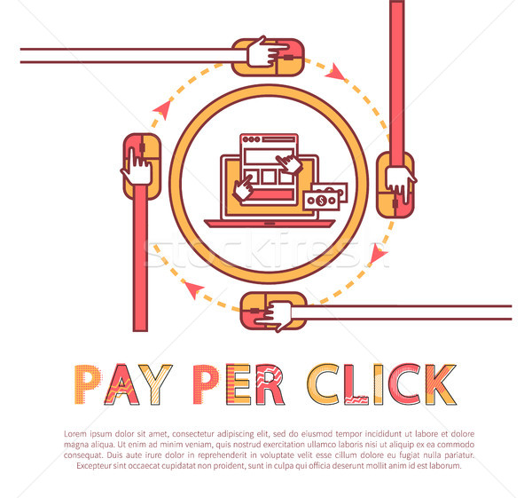 Pay Per Click Poster and Text Vector Illustration Stock photo © robuart