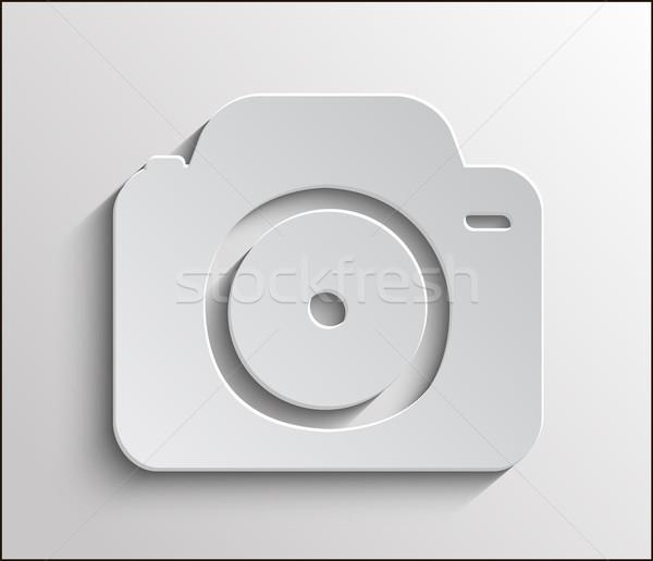 ストックフォト: アイコン · カメラ · アプリ · 金属 · 影 · 電話