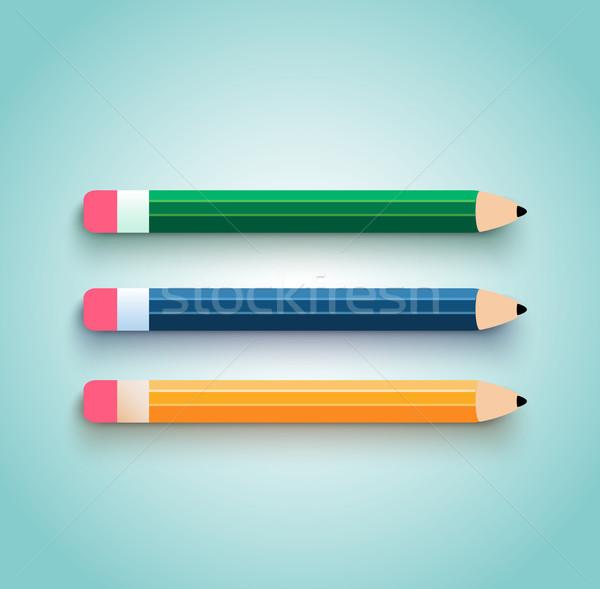 Photo stock: Crayon · design · bureau · peinture · fond