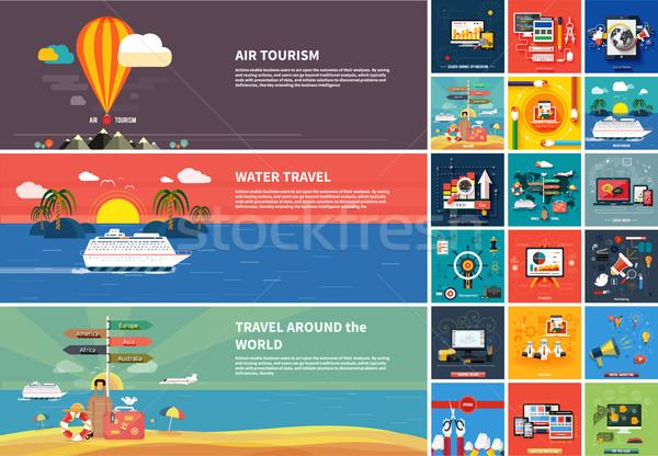 Stock fotó: Ikonok · web · design · seo · közösségi · média · illetmény · által