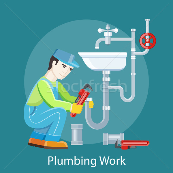 Plumbing Work Concept Stock photo © robuart