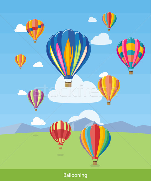 Hot Air Balloons Flying Stock photo © robuart