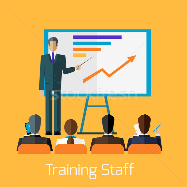 Training Staff Briefing Presentation Stock photo © robuart