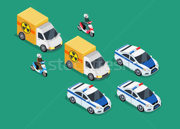 Police Motorcade Car Important Toxic Load Stock photo © robuart