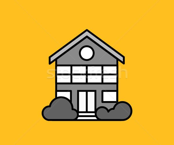 House Icon on Yellow Stock photo © robuart
