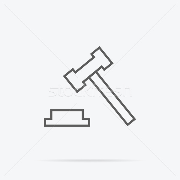 Judge or Auction Hammer Icon Stock photo © robuart