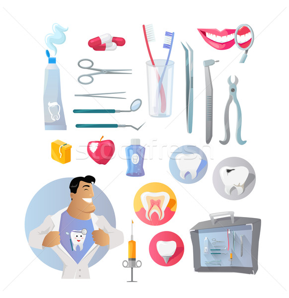 Tools and Items on Theme of Stomatology Stock photo © robuart