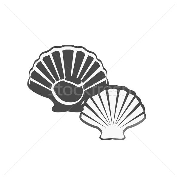 монохромный морепродуктов иконки стиль дизайна Сток-фото © robuart