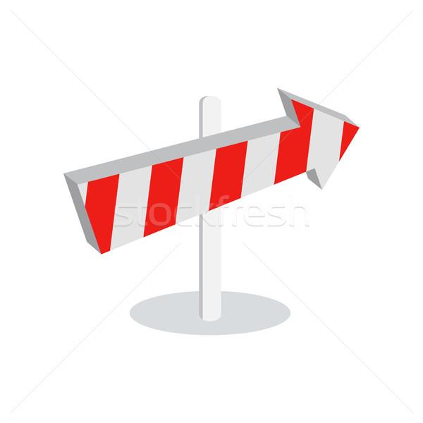 Direction Arrow Icon Sign Symbol Isolated on White Stock photo © robuart