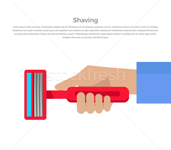 Shaving Concept Banner Vector Illustration. Stock photo © robuart