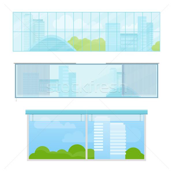 セット 窓 ベクトル イラスト スタイル 異なる ストックフォト © robuart