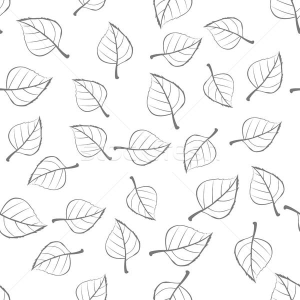 листьев вектора стиль иллюстрация падение Сток-фото © robuart