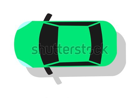 Green Car Top View Flat Design Vector Illustration Stock photo © robuart