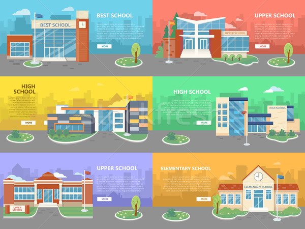 Set of School Buildings. Architectural Variations Stock photo © robuart