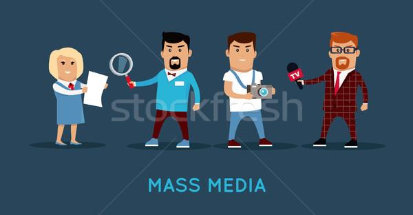 Mass Media Concept Banner Vector Illustration. Stock photo © robuart