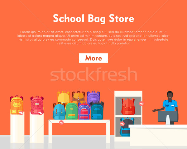 School Bag Store. Two Sellers Offering Backpacks Stock photo © robuart