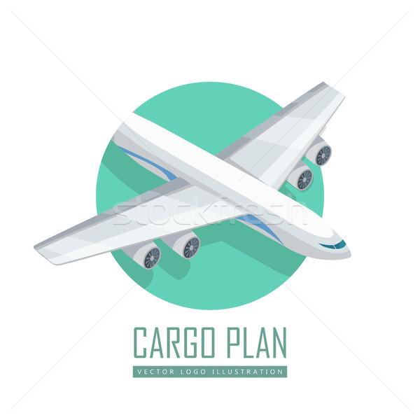Samolot vector icon izometryczny projekcja ikona samolotów Zdjęcia stock © robuart