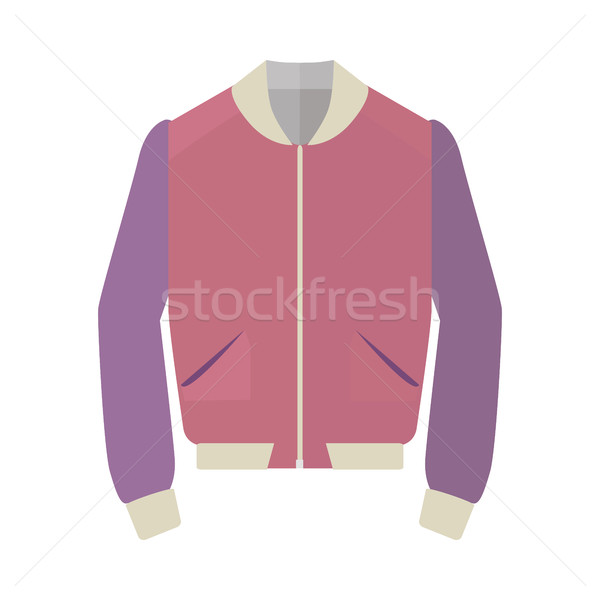 Unisex Sport Jacket Flat Style Vector Illustration Stock photo © robuart