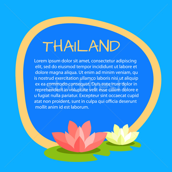 Thailand Vector Touristic Banner with Sample Text Stock photo © robuart