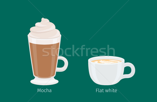 Blanche café boissons illustration mousse Photo stock © robuart
