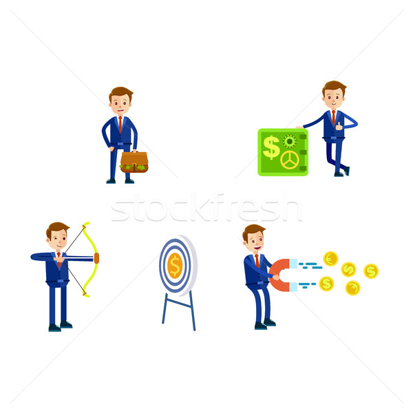 Businessman in Suit Character. Illustrations Set Stock photo © robuart