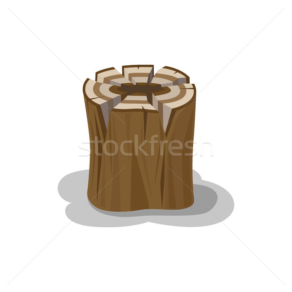 Stacked Wood Isolated Vector. Firewood Elements Stock photo © robuart