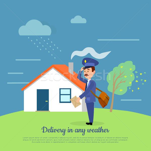 доставки погода почтальон письма почтальон пакет Сток-фото © robuart