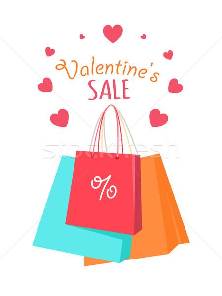 Valentine's Sale Vector Vector Flat Style Concept Stock photo © robuart
