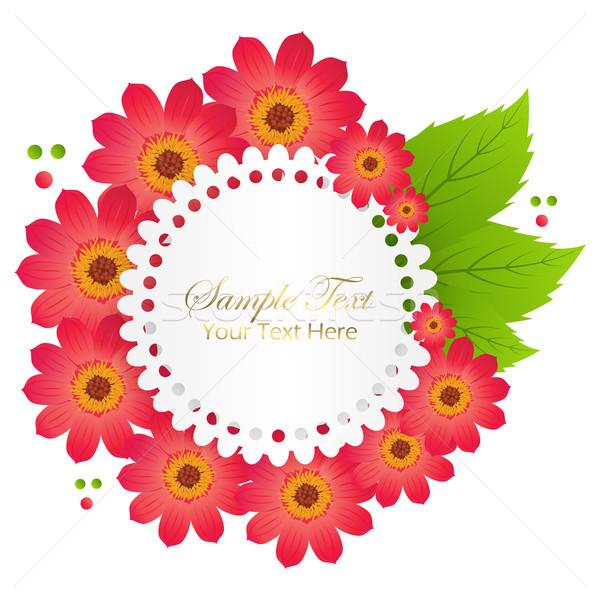 Cute congratulazione cartolina rosso fiore fiori rossi Foto d'archivio © robuart