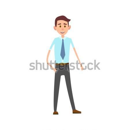 Férfi hivatalos iroda ruházat izolált illusztráció Stock fotó © robuart