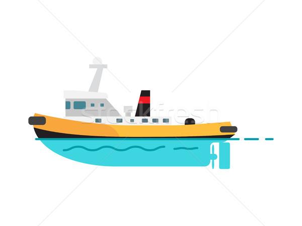 Isolado branco pescaria acelerar barco Foto stock © robuart