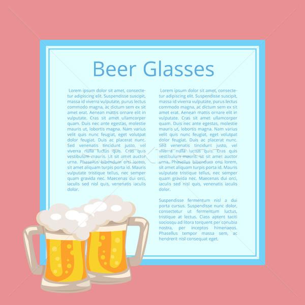 Bira geleneksel gözlük beyaz köpük kabarcıklar Stok fotoğraf © robuart