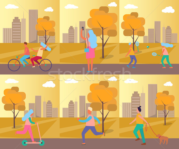 Set of Pictures Sport Theme Vector Illustration Stock photo © robuart